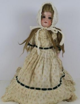 Armand Marseilles Bisque Shoulder Head Doll: