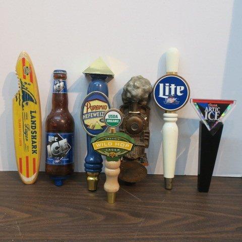 Seven Various Beer Tap Handles: