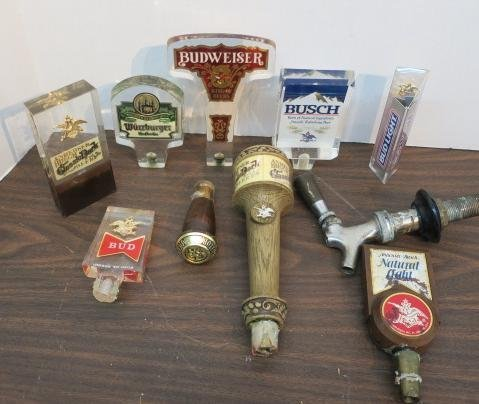 Nine Various Beer Tap Handles: