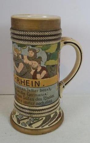 TACITUS AM RHEIN Beer Mug: