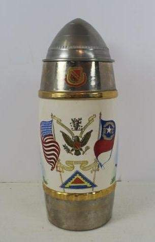 """CASSIONS GO ROLLING ALONG Musical Beer Stein, 10"""" T:"""