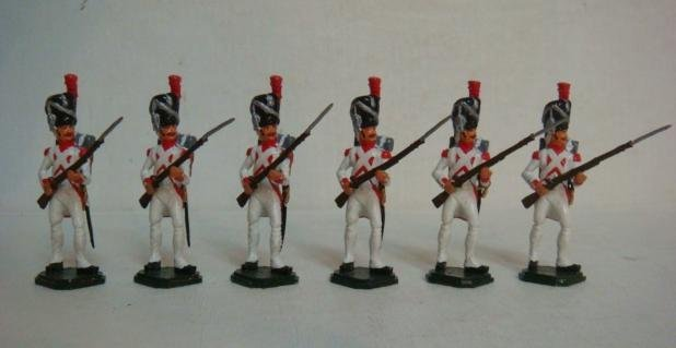 Six Hollandis 54mm Hand painted Model Soldiers:
