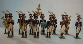 13 Piece 54mm Hand Painted Model Military Band: