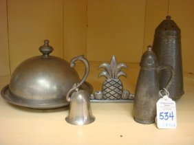 Four Piece Pewter Table Set: