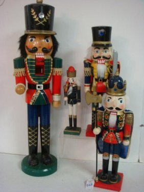 Four Wooden Nutcrackers:
