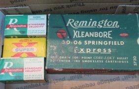 17 30-06 And 150 .22 Cal Vintage Ammunition