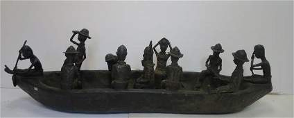 BENIN Tribe, Nigeria, Capture of Benin King Boat: