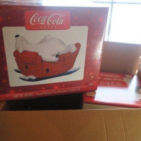 Two Coca-cola Brand Nostalgic Cookie Jars:
