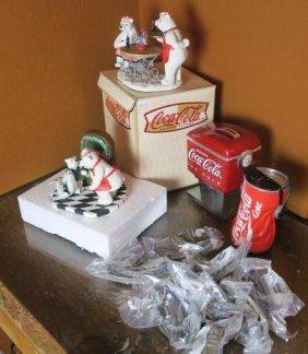 Coca-cola Brand Polar Bear Figurines, Hardware & More: