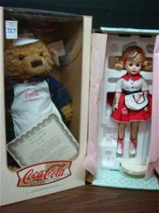 Two Coca Cola Collectable Dolls: