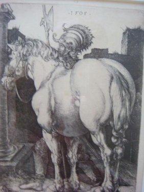 "Albrecht Durer, ""large Horse"" 19th Century Printing:"