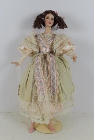 Modern Porcelain Ballerina Doll: