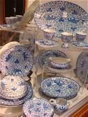 22 Pcs Vintage BLUE PHOENIX Dinnerware Various Makers