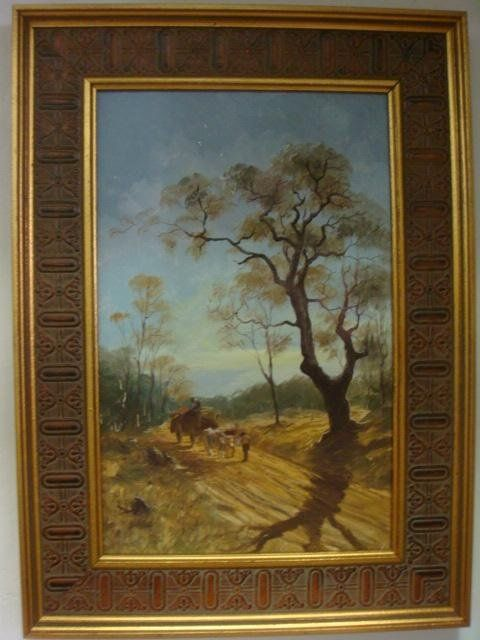 Signed M ZAYAS Spanish Countryside Oil on Board: