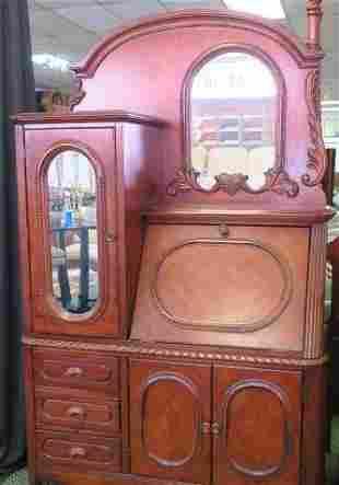 Combination Side by Side Cabinet/Desk/Vanity: