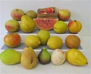 Vintage Carved Italian Alabaster Fruit: