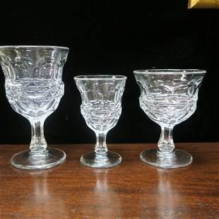 FOSTORIA Argus Clear Glassware, 22 Pcs, Marked HFM: