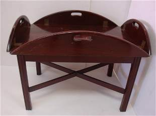 Oval Butler's Tray Coffee Table: