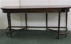 Quality Mahogany Console Table with Hidden Drawer: