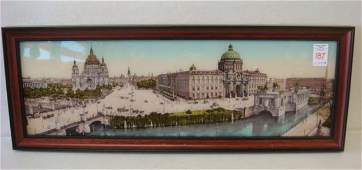Print of Drawing of Vatican City with Mother of Pearl