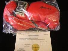Autographed Pair MUHAMMAD ALI Boxing Gloves w/COA: