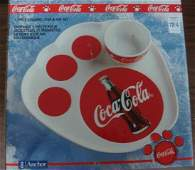 Coca Cola 2 Piece Ceramic Hors de Oeuvres Trumpeters:
