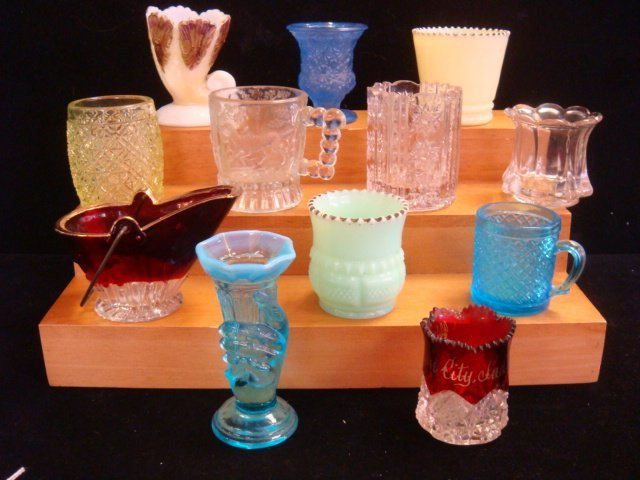 Twelve EAPG Toothpick Holders and Cups: