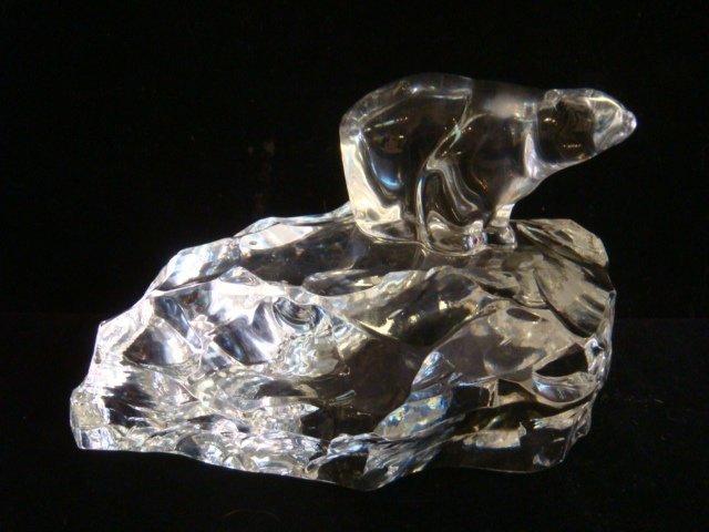 HADELAND of Norway Crystal Polar Bear on Iceberg: