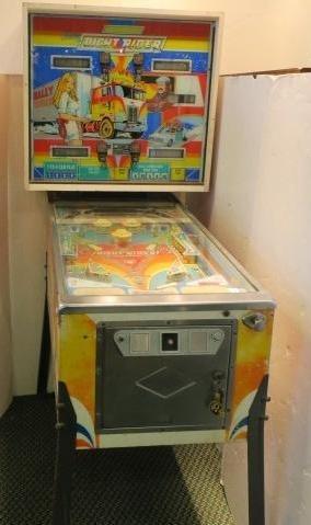 """Rare BALLY """"NIGHT RIDER"""" Pinball Machine, CA Dec 1976:"""