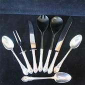 LUNT Modern Victorian Sterling Spoons Fork Knife