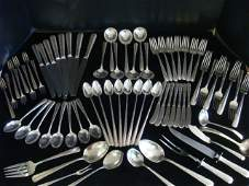 TOWLE Candlelight Sterling Silver Flatware 72pc