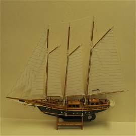 Model of Caribbean Schooner by Augustine Pollard: