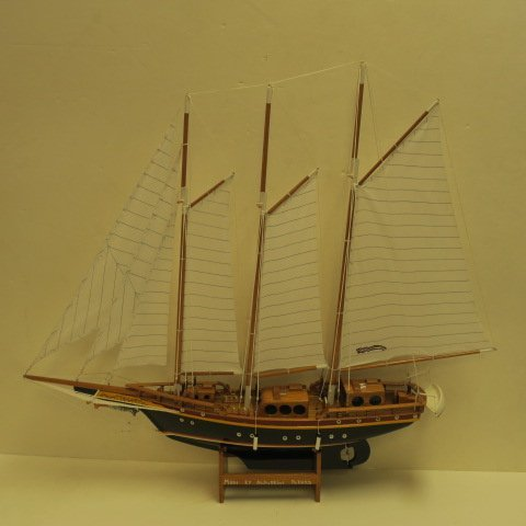 Model of Caribbean Schooner by Augustine Pollard:
