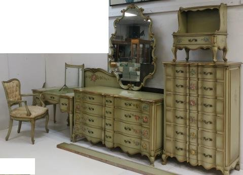 Union National 7 Piece French Provincial Bedroom Set: