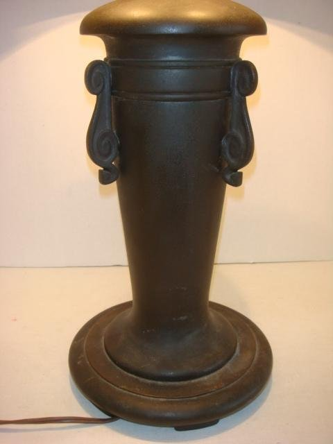 RARE Signed HANDEL Chipped Ice Table Lamp - 4