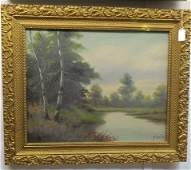 Oil on Canvas Landscape Signed T Bailey