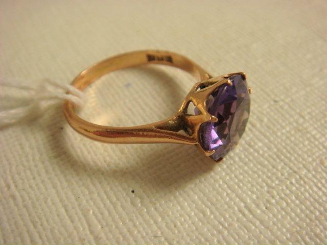 10KT Hallmarked Alexandrite Ring: - 2