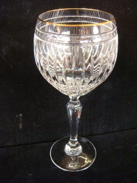 """12 WATERFORD """"Marquis"""" Hanover-Gold Balloon Wine Stems - 2"""