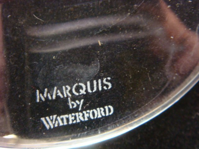 """12 WATERFORD """"Marquis"""" Hanover-Gold Balloon Wine Stems - 3"""