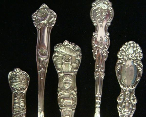 Eleven Vintage Sterling Silver Collector Spoons: - 2