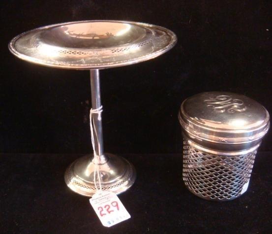 Sterling Silver Compote and Jam Jar Holder: