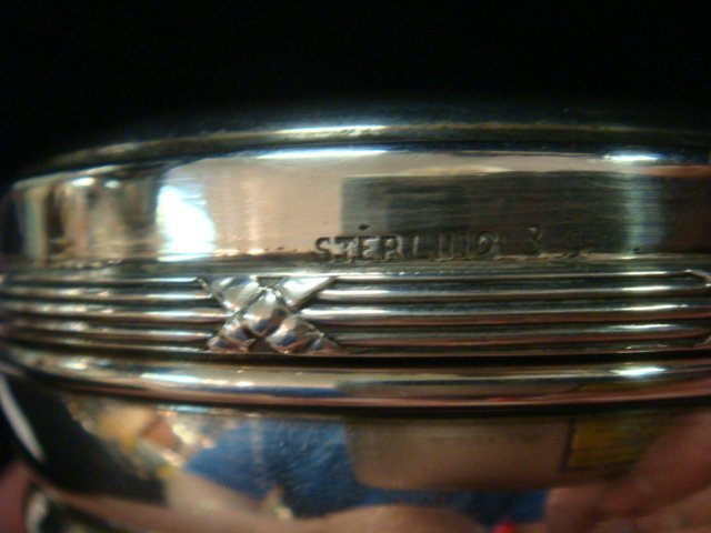 Sterling Silver Compote and Jam Jar Holder: - 2
