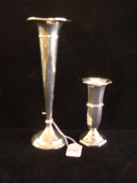 Two Sterling Silver Vases:
