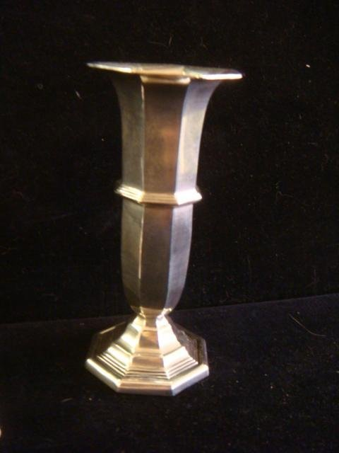 Two Sterling Silver Vases: - 2
