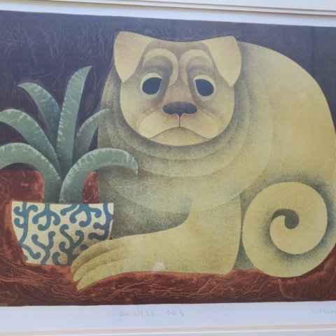 CAROL JABLONSKY Signed Lithograph, Chinese Dog: - 2