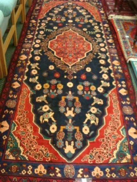 Signed Hand Loomed All Wool Iranian Rug:
