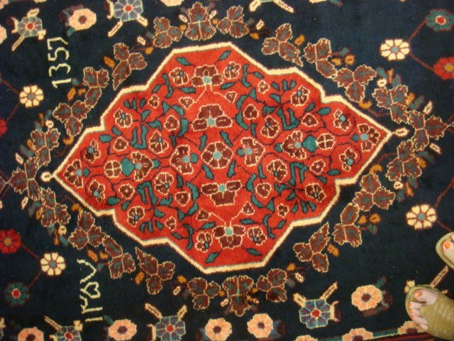 Signed Hand Loomed All Wool Iranian Rug: - 2