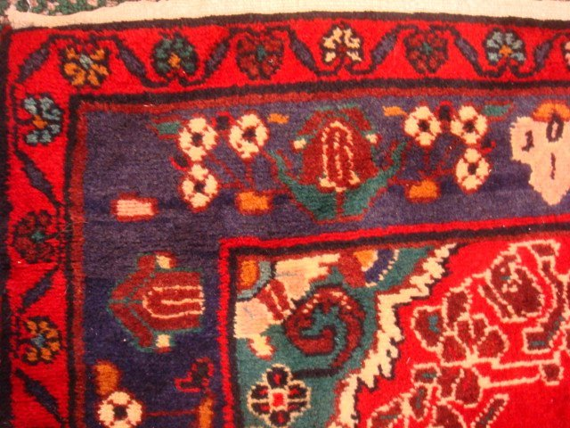Signed Hand Loomed All Wool Iranian Rug: - 3