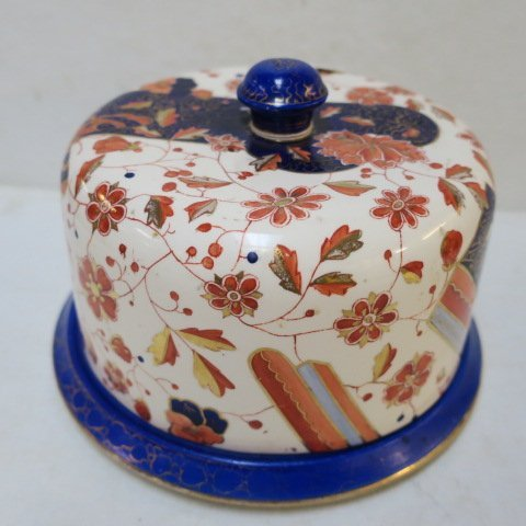 Imari Pattern Ceramic Cheese Dish: