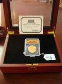 Graded SF-70, Gold American BUFFALO Coin .9999 Fine: